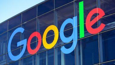 Logo Google pada gedung kantor Google