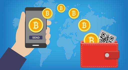 Ilustrasi dompet bitcoin untuk menyimpan dan mengirim bitcoin
