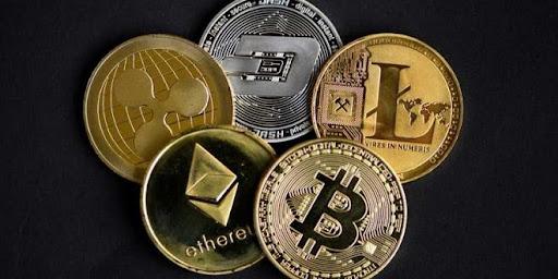 Ilustrasi berbagai mata uang kripto
