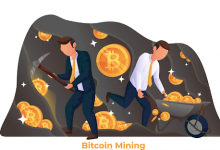 Ilustrasi kegiatan penambangan bitcoin
